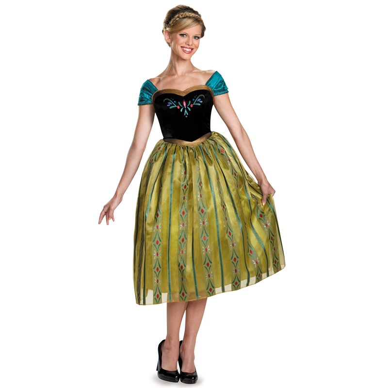 frozen anna coronation deluxe costume for women. Black Bedroom Furniture Sets. Home Design Ideas