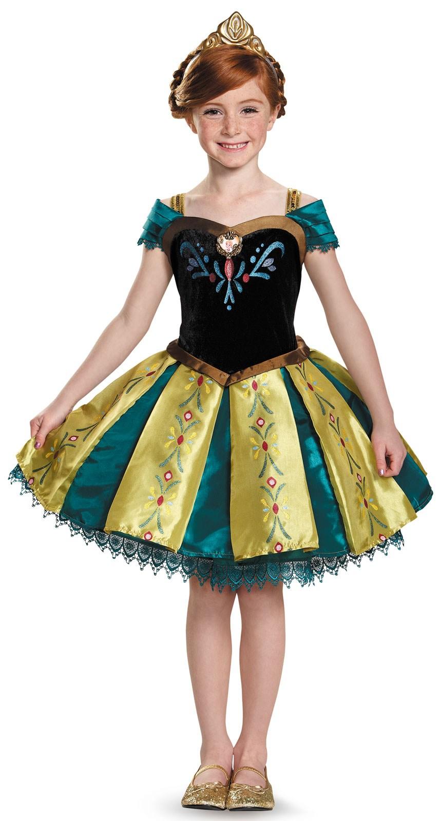 Frozen: Anna Coronation Gown Prestige Tutu Costume For Girls