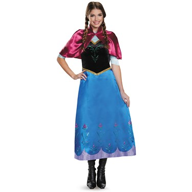 Frozen: Anna Deluxe Traveling Gown Costume For Women