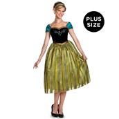 Frozen: Anna Deluxe Womens Plus Size Coronation Costume