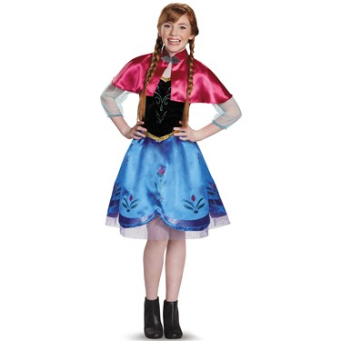 Frozen: Anna Traveling Gown Costume For Tweens