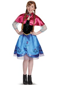 Click Here to buy Frozen: Anna Traveling Gown Costume For Tweens from BuyCostumes