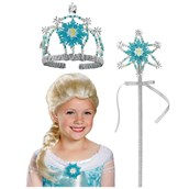 Frozen Elsa Accessory Kit - Tiara, Wand and Wig