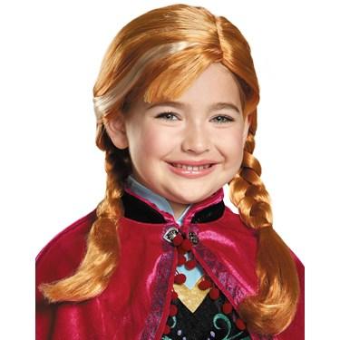 Frozen: Girls Anna Wig