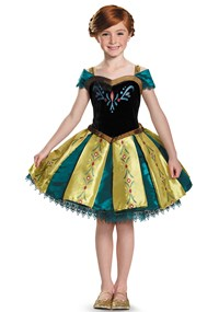 Click Here to buy Frozen: Prestige Anna Coronation Gown Tutu Costume from BuyCostumes