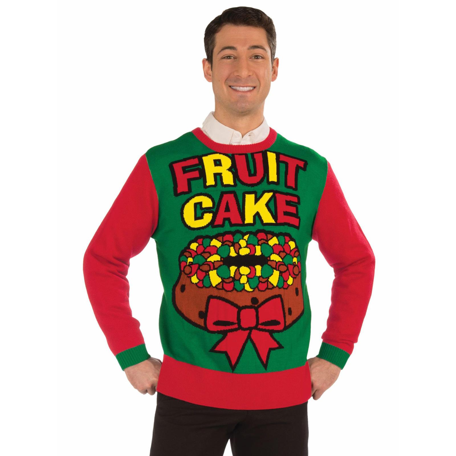 Fruit Cake Adult Christmas Sweater   BuyCostumes.com