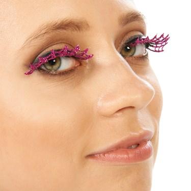 Fushcia Spiderweb Eyelashes