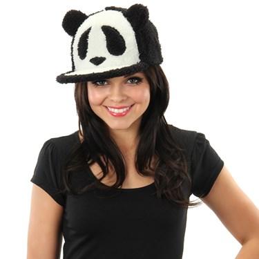 Fuzzy Panda Snapback Adult Hat
