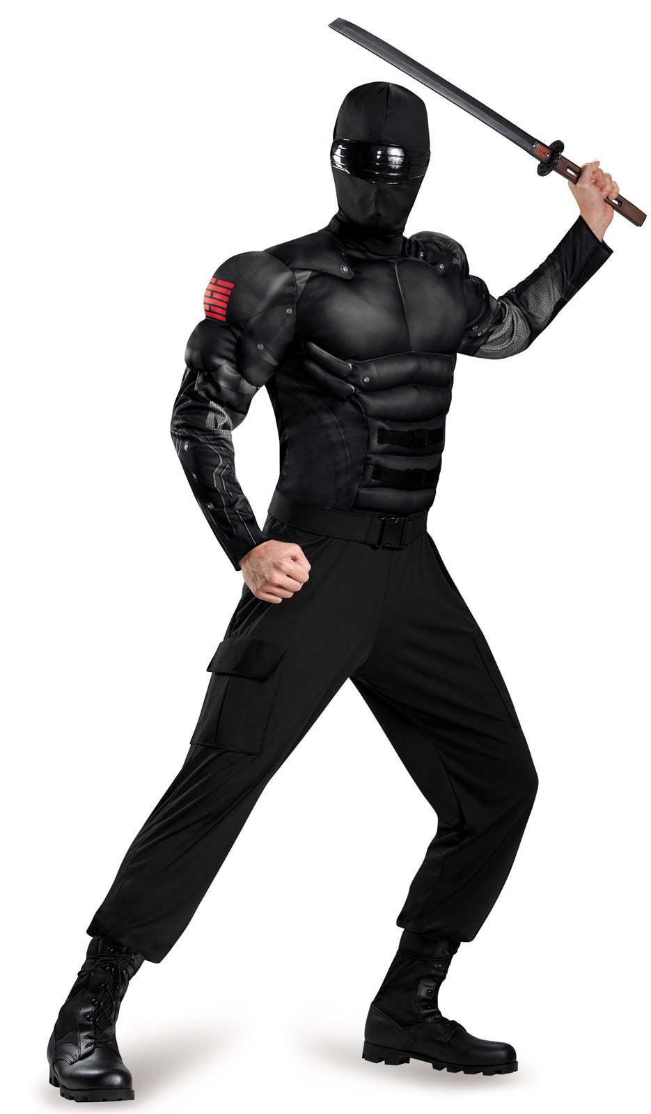 G.I. Joe: Adult Snake Eyes Muscle Costume