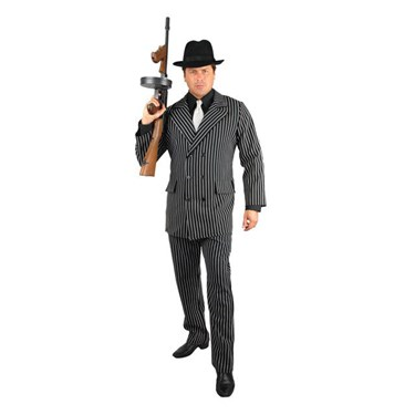 Gangster Black and White Adult Plus Costume