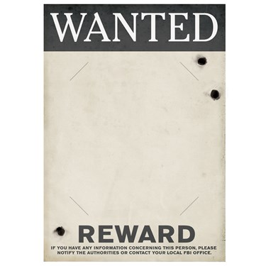 Gangster Wanted Sign