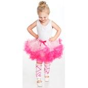 Girls Ballerina Pink Leg Warmers