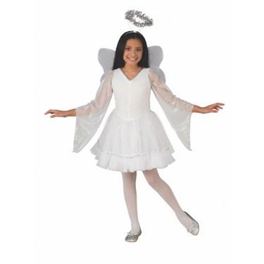 Girls Deluxe Angel Costume