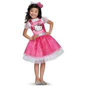 Girls Deluxe Hello Kitty Pink Costume