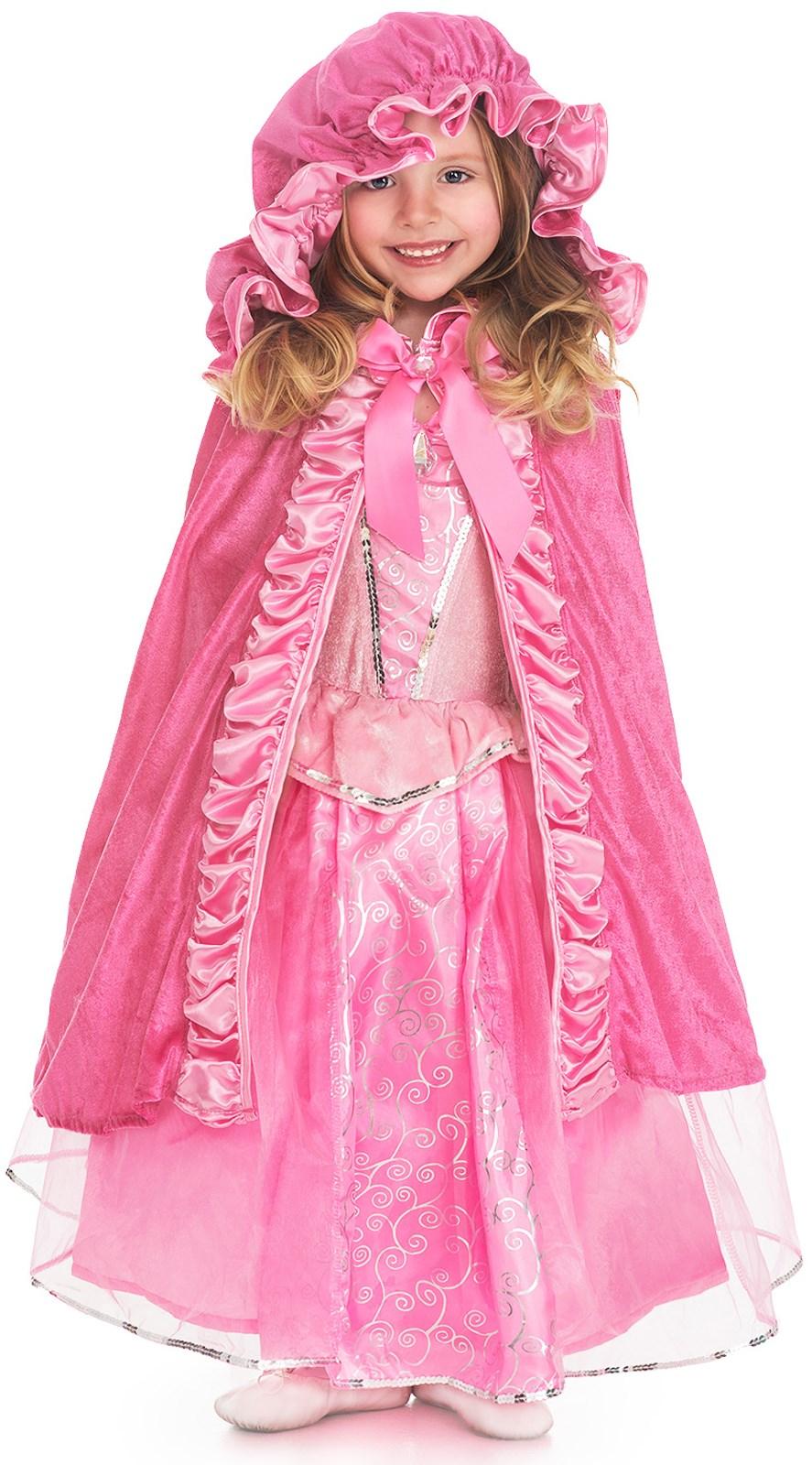 Girls Deluxe Pink Cloak