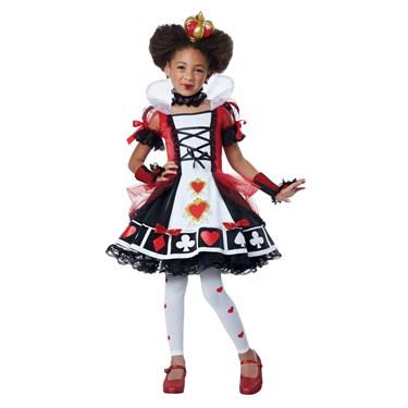 Girls Deluxe Queen Of Hearts Costume