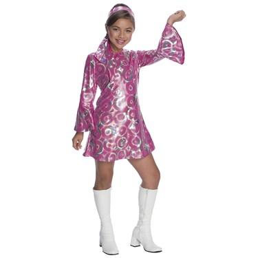 Girls Disco Princess Costume