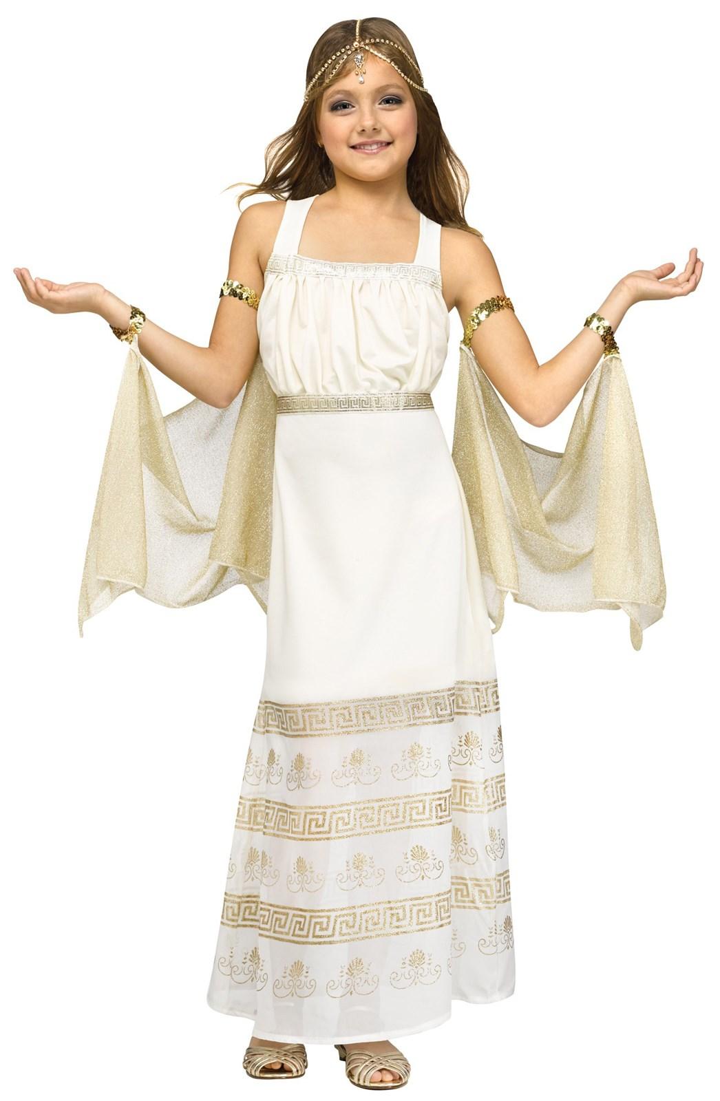 Girls Golden Goddess Costume
