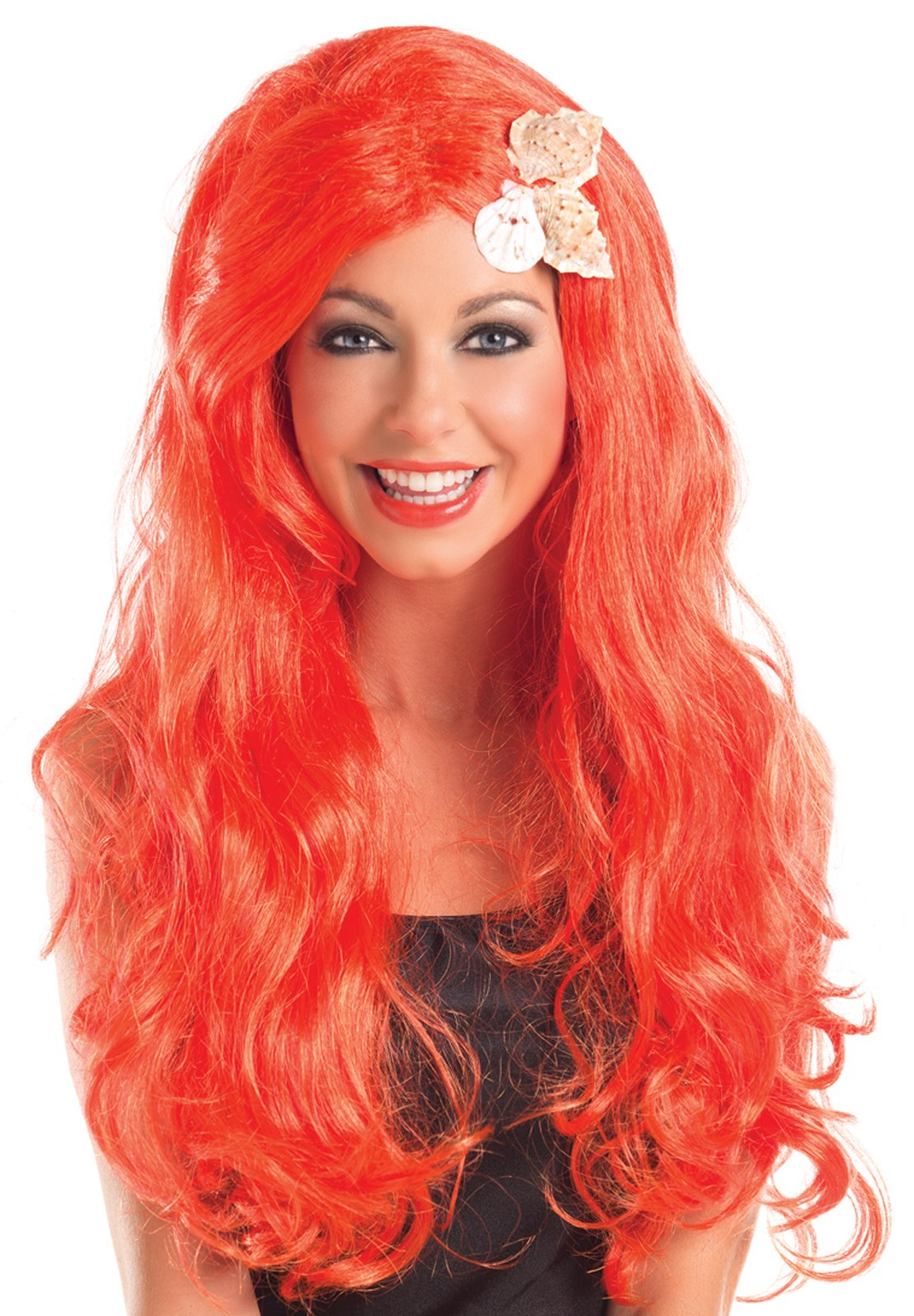 Girls Long Mermaid Shell Wig