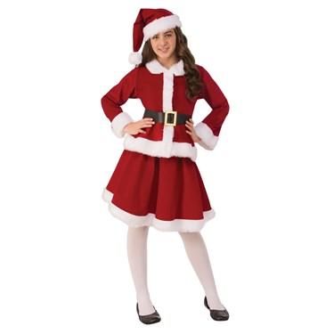 Girls Miss Claus Costume