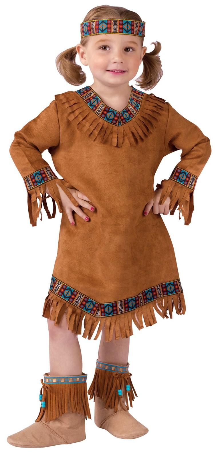 Girls Native American Toddler Costume