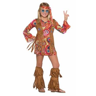 Girls Peace Lovin Hippie Costume