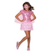 Girls Pink Sequin Supergirl Costume