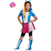 Girls Rainbow Dash Equestria Girls Deluxe Costume