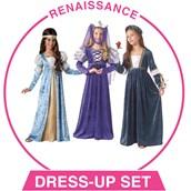 Girls Renaissance Dress-up Set