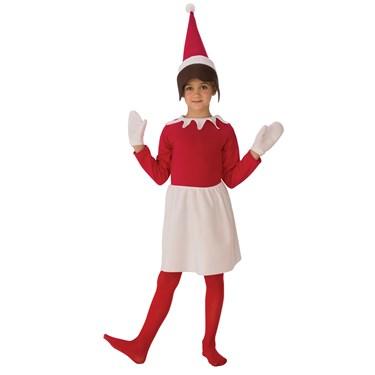 Girls Sitting Elf Costume