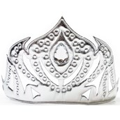 Girls Soft Silver Ice Princess Crown
