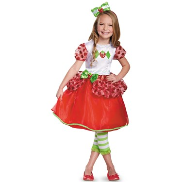 Girls Strawberry Shortcake Deluxe Costume