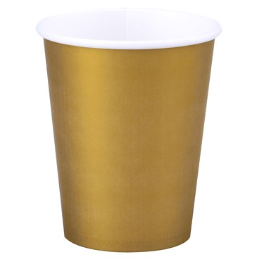 Glittering Gold (Gold) 9 oz. Cups (24 count)