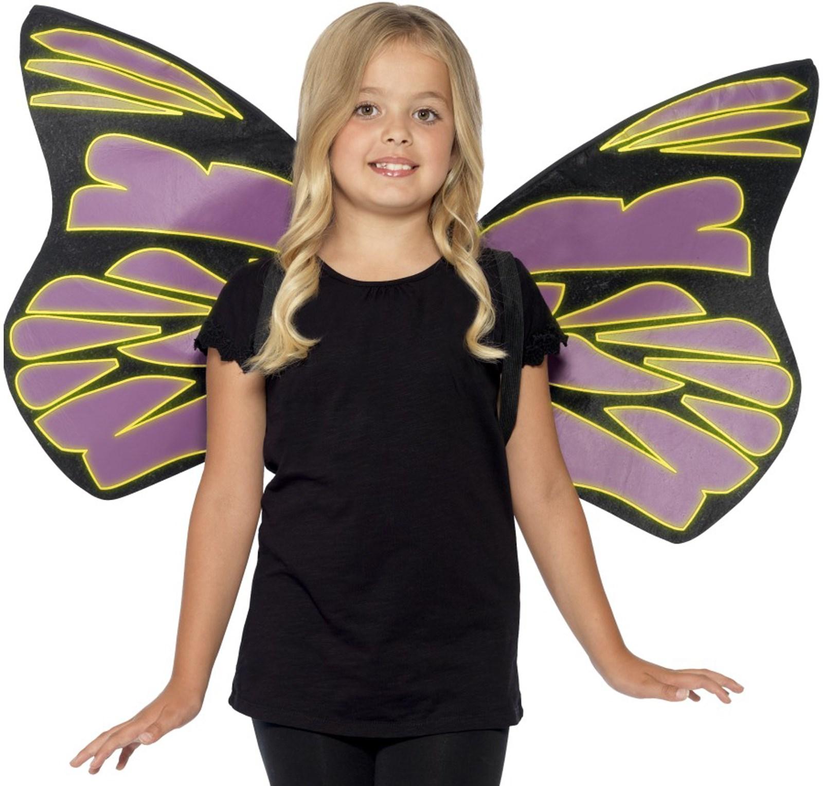 Glow in the Dark Flutter Wings For Girls