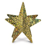 Gold 3D Prismatic Star Centerpiece