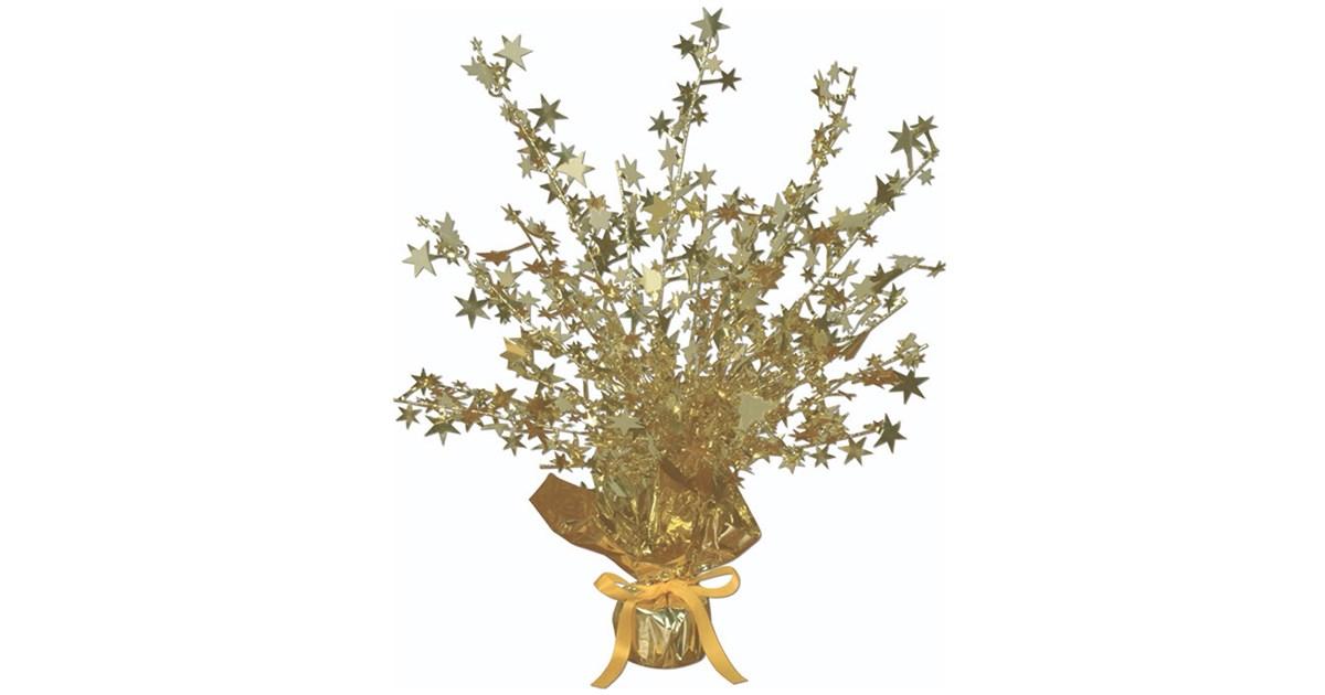 Gold foil star gleam n burst centerpiece buycostumes