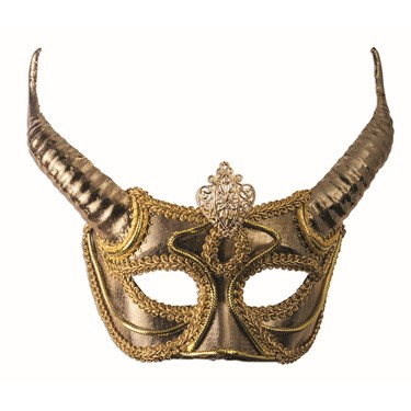 Gold Mask with Horns