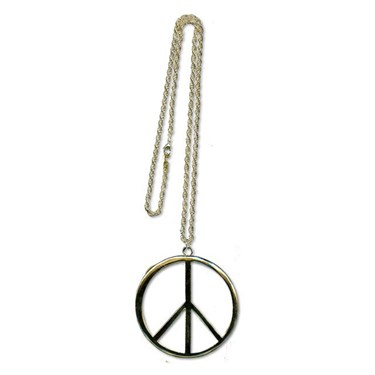Gold Peace Extra Large Sign Necklace