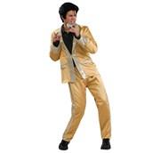Gold Satin Elvis Deluxe Adult Costume
