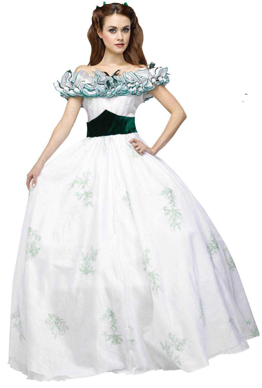 Gone with the Wind Womens Scarlet O Hara Twelve Oaks Dress