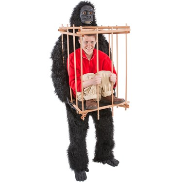 Gorilla And Cage Mens Costume