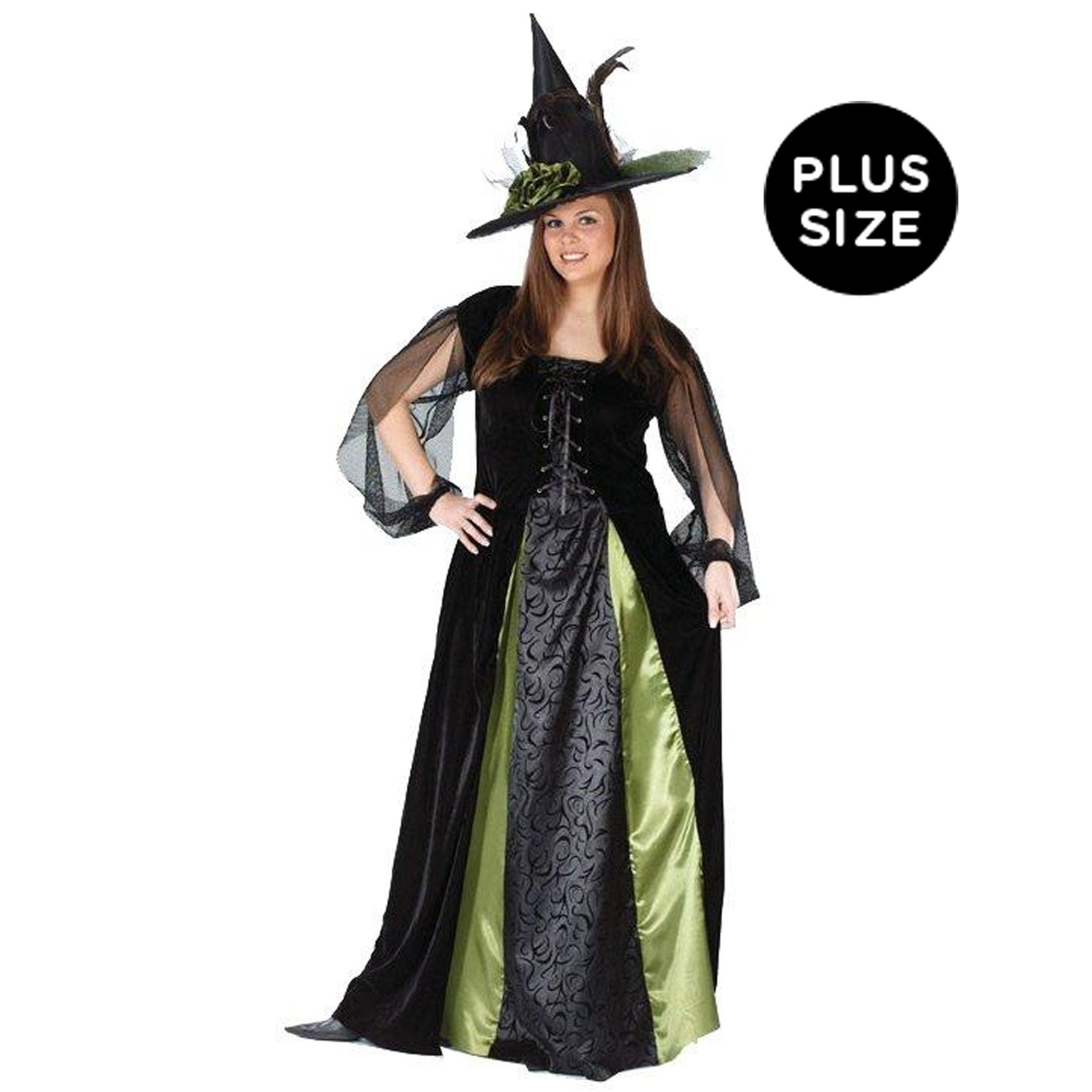 Goth Maiden Witch Adult Plus Costume | BuyCostumes.com
