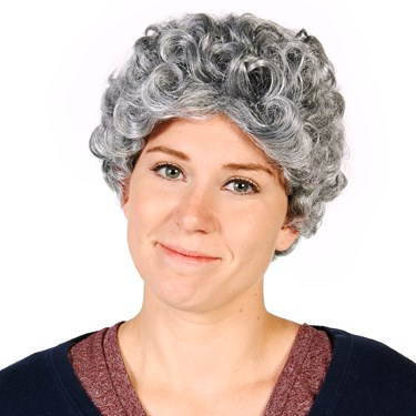 Gray Grandma Adult Wig