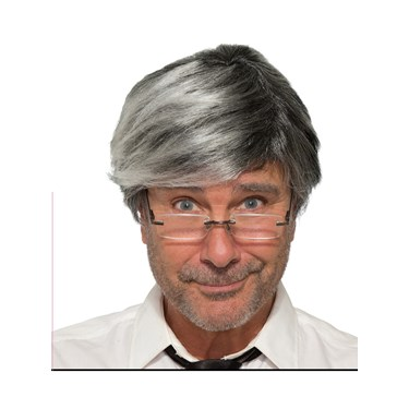 Gray Old Man Adult Wig