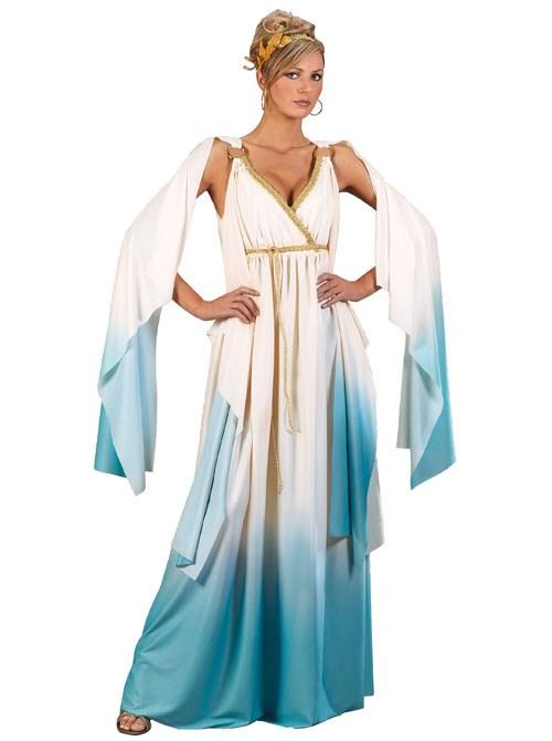 Adult Greek Goddess Adult Costume- White:  -Large