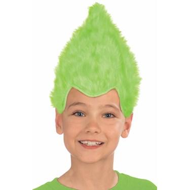 Green Child Fuzzy Wig