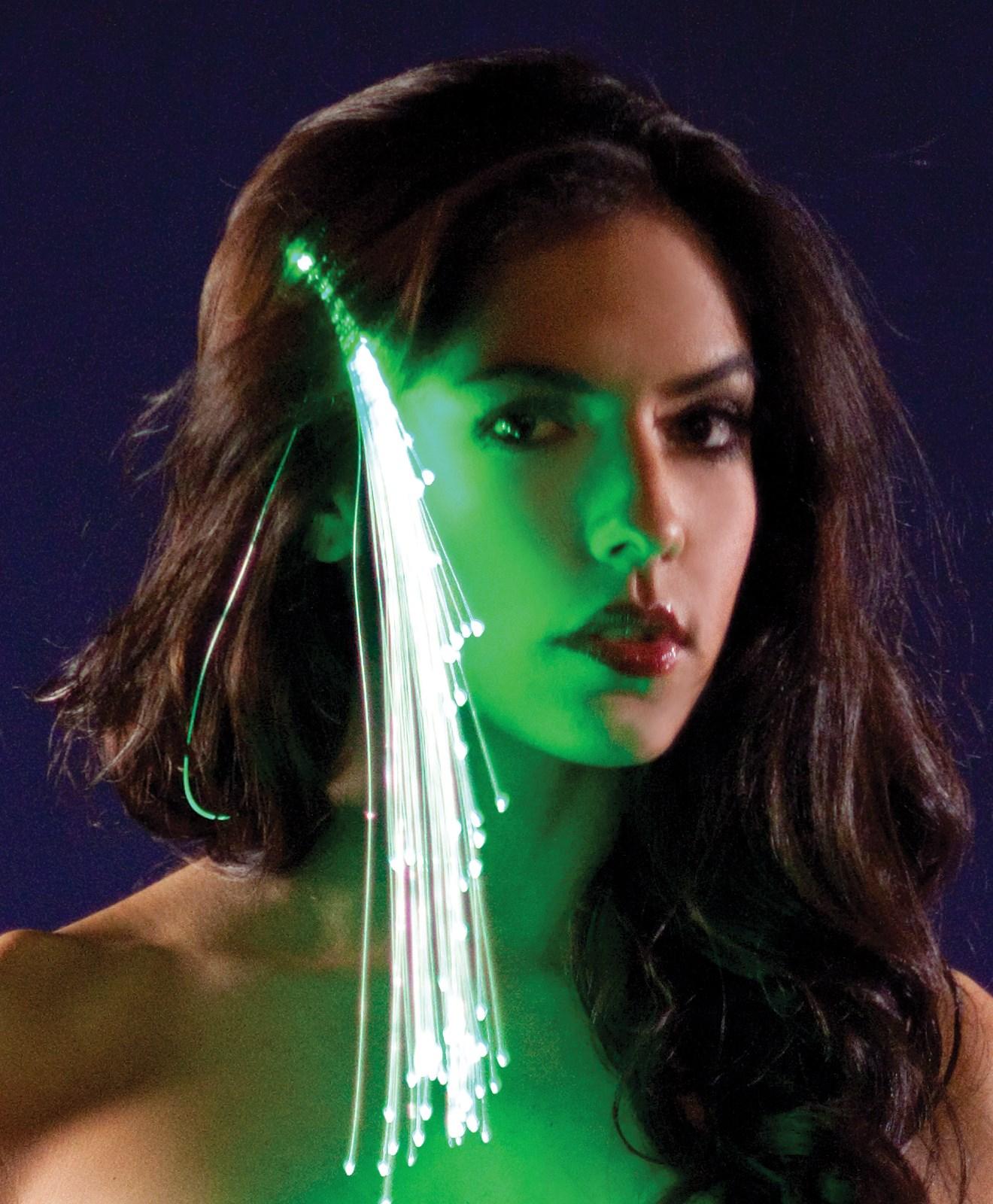 Green Light Up Hairclip For Girls