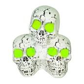 Green Light Up Skull Stack