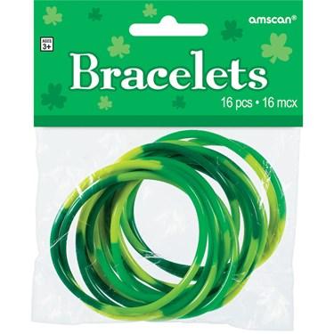 Green Rubber Bracelets (Pack of 16)
