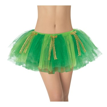 Green with Gold Ribbon Adult Tutu
